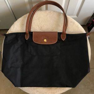 Longchamp le pliage tote large black